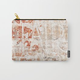 Red Brick Wall Graffiti Carry-All Pouch