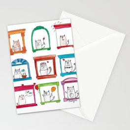 Dreamy cats Stationery Cards