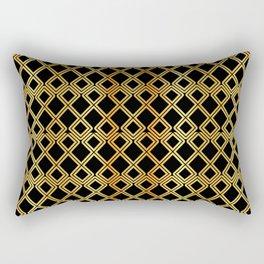 Gold on Black Rectangular Pillow