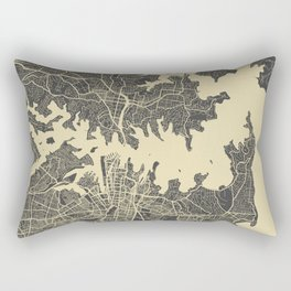 Sydney map yellow Rectangular Pillow
