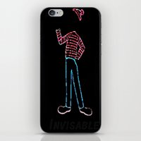 waldo iPhone & iPod Skins featuring Invisible Waldo by Chris Bey