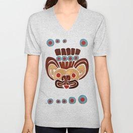 Mayan Baby Jaguar Folk Art Textile Unisex V-Neck