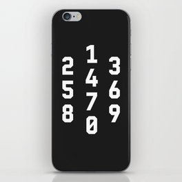 Typography Numbers #3 iPhone Skin