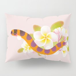 Kuhli loach and plumeria Pillow Sham
