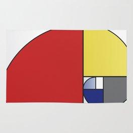 Mondrian vs Fibonacci Rug