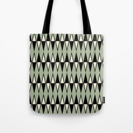 Mid Century Modern Diamond Pattern Sage Green 234 Tote Bag