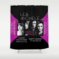 glee Shower Curtains featuring Louder by Lea Michele by Jessie Bouyea