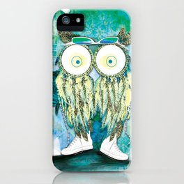 Watercolor Dreamcatcher Owl iPhone Case