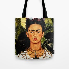 Frida Kahlo Cat Tote Bag