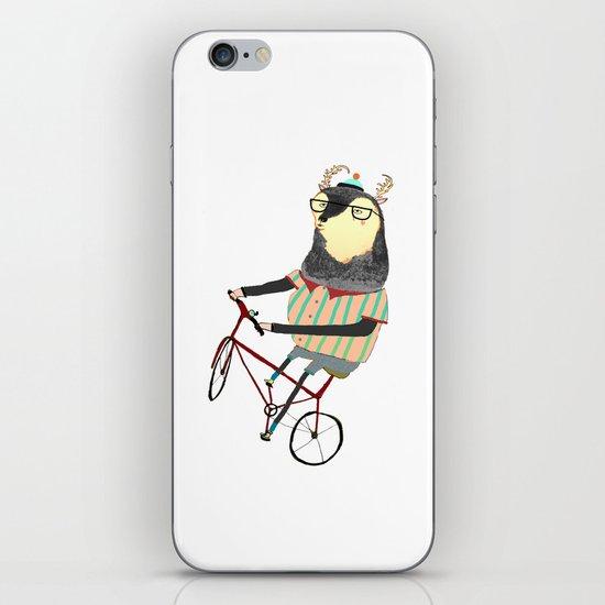 Deer on Bike.  iPhone & iPod Skin