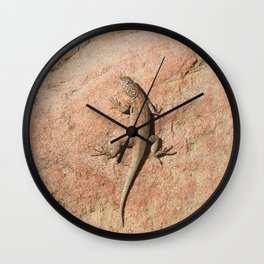Camo King, common side-blotched lizard Wall Clock