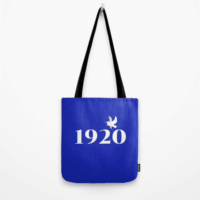 1920 Blue Dove Tote Bag