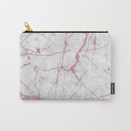 Pink Gold Glitter and Marble Carry-All Pouch