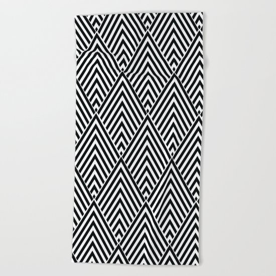 Triangles in Diamonds Beach Towel