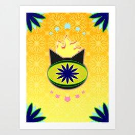 Flaming Feline Eye Art Print