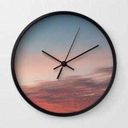 Dappled Peach Skies Wall Clock