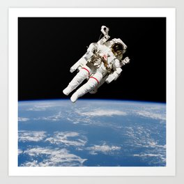 Astronaut Floating Free Art Print