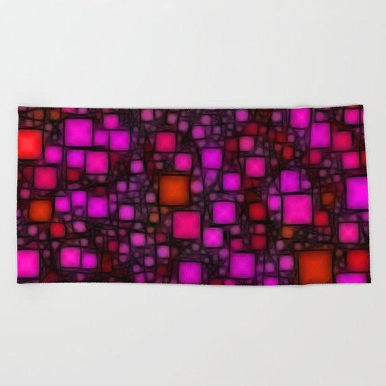Post It Pink Glow Beach Towel