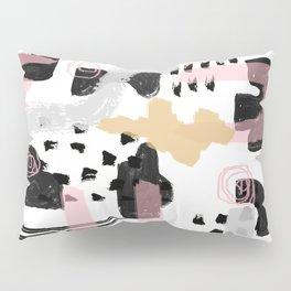 Mosaic Abstract Pink, Black Pillow Sham