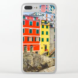 Colorful Riomaggiore Cinque Terre Italy Clear iPhone Case