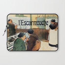 L'Escarmouche Vintage French bar scene Laptop Sleeve