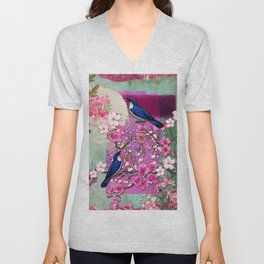 Meeting in the Garden Unisex V-Neck