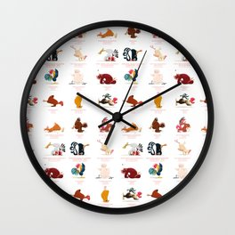 Chicken Yoga Wall Clock