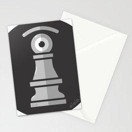 pawn's eye b&w Stationery Cards