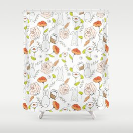 Spring blooming pattern Shower Curtain