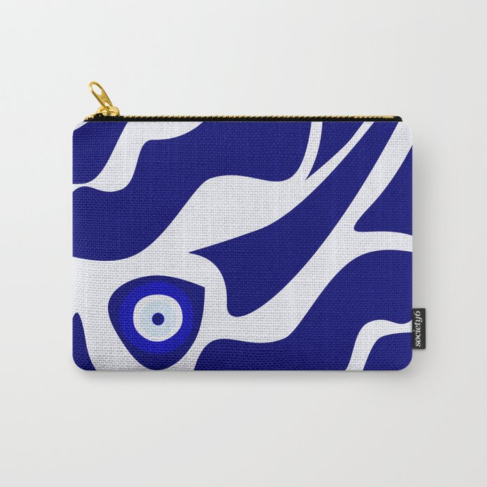 Evil Eye Lava Pattern Carry-All Pouch