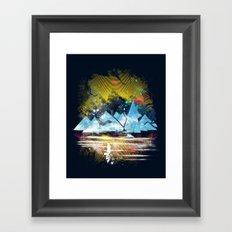 iceland islands Framed Art Print