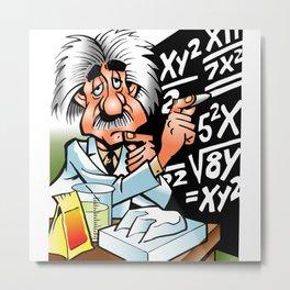 College Mathematics Professor Metal Print