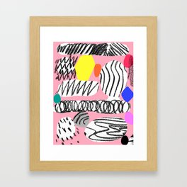 hidden treasures II rosa Framed Art Print