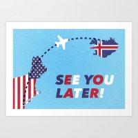 postcard Art Prints featuring Postcard by Matt Hunsberger