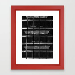 While my guitar gently weeps Framed Art Print