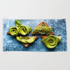 Avocado Foodie Art Beach Towel