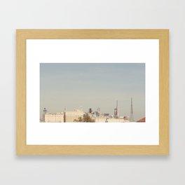 LA towers Framed Art Print