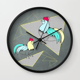 Coq français - French rooster Wall Clock