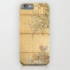 Japanese Edo Period Six-Panel Gold Leaf Screen - Spring and Autumn Flowers Slim Case iPhone 6s