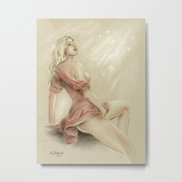 Love Charm - Erotic Pastel Metal Print