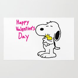 snoopy valentine Rug