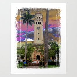 University of Puerto Rico - Main tower Rio Piedras Art Print