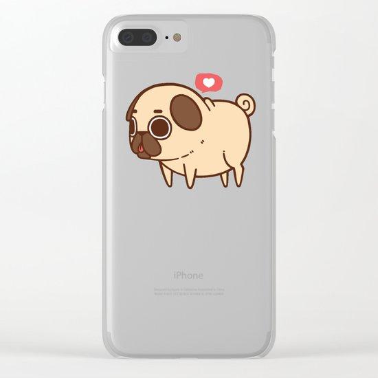 Puglie Heart Clear iPhone Case