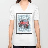 mini V-neck T-shirts featuring Mini by Magdalena Almero