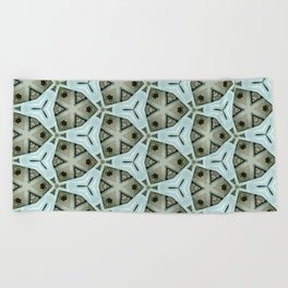 Mystery rooms - pattern 172 Beach Towel