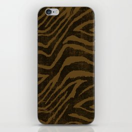 ANIMAL PRINT ZEBRA BROWN CHOCOLATE PATTERN iPhone Skin