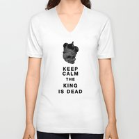 keep calm V-neck T-shirts featuring Keep calm by lescapricesdefilles