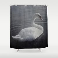swan Shower Curtains featuring Swan by AraNaja