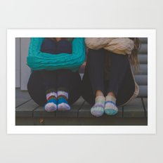 wool socks. Art Print