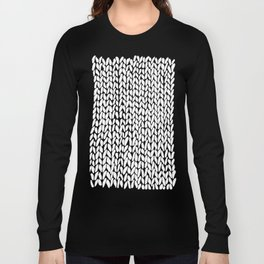 Hand Knitted Loops Long Sleeve T-shirt